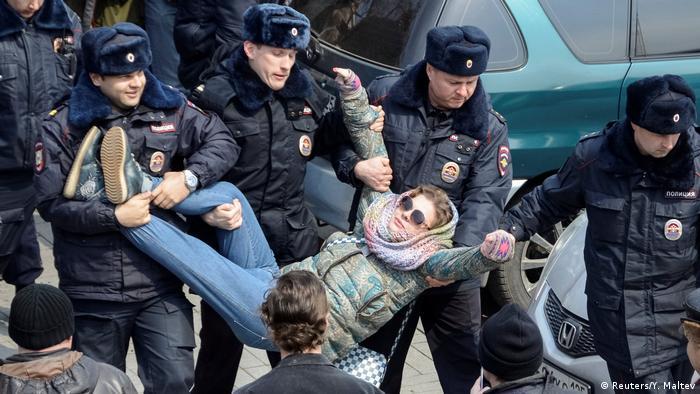 Russland Aufmarsch Oppositionskundgebung in Wladiwostok