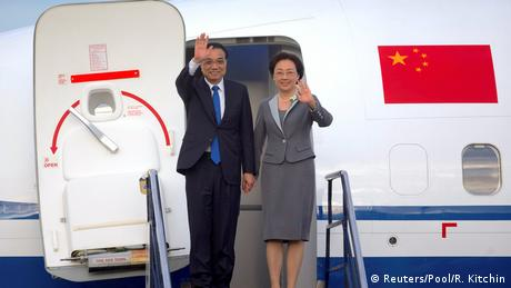 Neuseeland chinesicher Premierminister Li Keqiang kommt in Wellington an (Reuters/Pool/R. Kitchin)