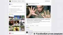 Screenshot Faceook: marcos.uzquiano Verloren im Dschungel - Maykool Coroseo Acuna