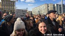Russland Aufmarsch Oppositionskundgebung in Moskau