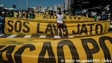Brasilien Protesten gegen Korruption in Rio