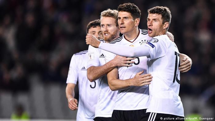 Во время одного из матчей немецкой сборной по футболу