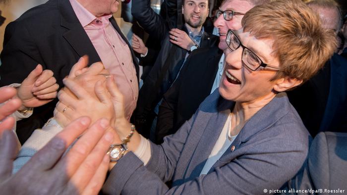 Landtagswahl Saarland - CDU Annegret Kramp-Karrenbauer