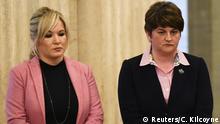 Eiszeit herrscht derzeit zwischen Sinn-Fein-Chefin Michelle O'Neill (l.) und DUP-Chefin Arlene Foster