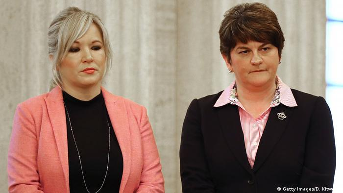 March 2017: Sinn Fein's O'Neill and DUP's Foster during McGuinness' funera