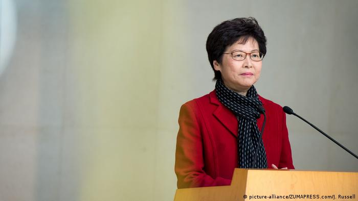 Hong Kong Wahlen - Carrie Lam (picture-alliance/ZUMAPRESS.com/J. Russell)