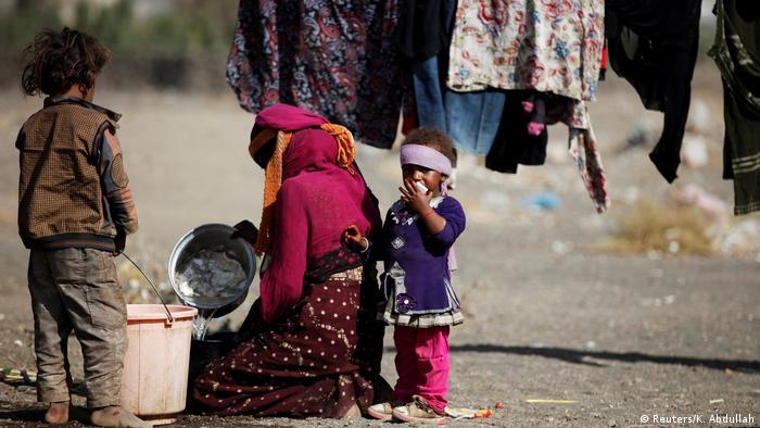 Jemen Leid der Kinder Flüchtlingslager bei Sanaa