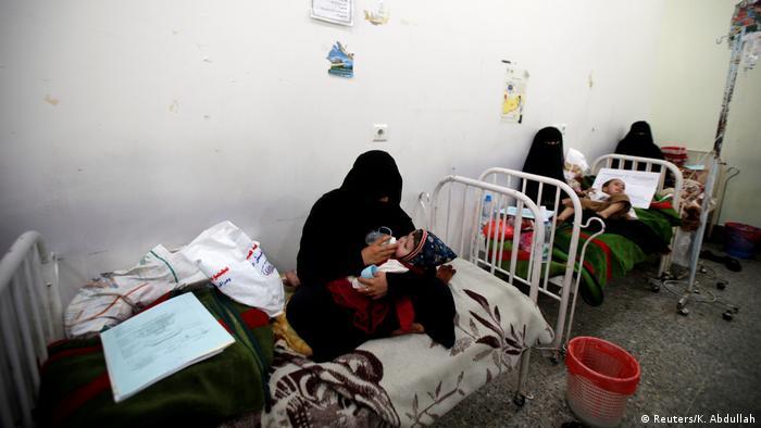 Jemen Leid der Kinder Krankenhaus in Sanaa (Reuters/K. Abdullah)