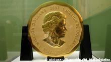 Deutschland Berlin Goldmünze Big Maple Leaf aus Bode Museum gestohlen