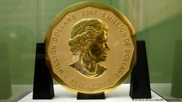 The Big Maple Leaf coin that was stolen from the Bode Museum in 2017