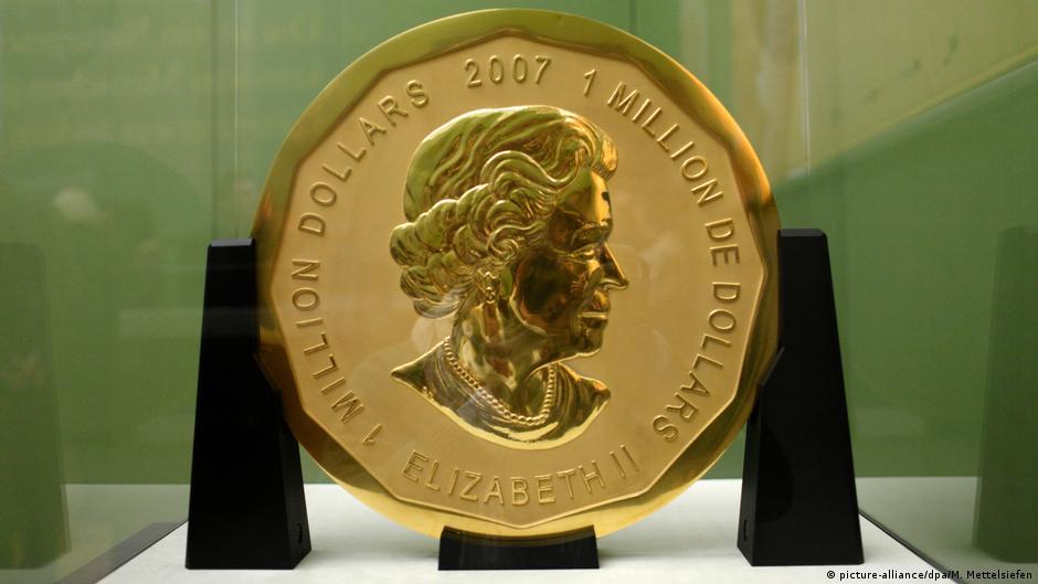 Златна монета од 100 килограми украдена од музеј
