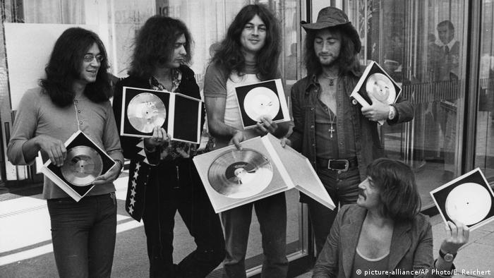 Deep Purple in West Berlin 1971 (picture-alliance/AP Photo/E. Reichert)