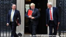 Großbritannien Liam Fox & Boris Johnson & David Davis