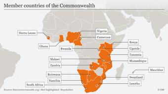 19 pays sont membres du Commonwealth depuis que le Zimbabwe a annoncé son retour