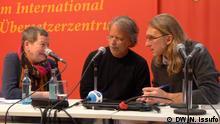 Der mosambikanische Schriftsteller Mia Couto bei der Buch Messe 2017 in Leipzig Wann wurde das Bild gemacht?: 27.03.2017 Wo wurde das Bild aufgenommen?: Leipzig Wer hat das Bild gemacht/Fotograf?: Nádia Issufo