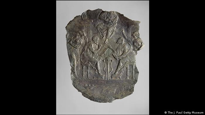Silver deity relief (The J. Paul Getty Museum)