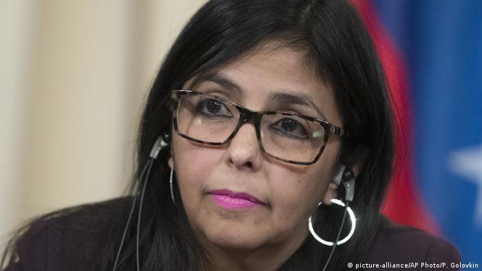 Delcy Rodriguez Außenministerin Venezuela (picture-alliance/AP Photo/P. Golovkin)
