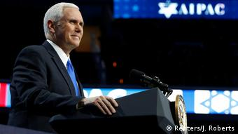 USA AIPAC-Treffen in Washington - Mike Pence (Reuters/J. Roberts)