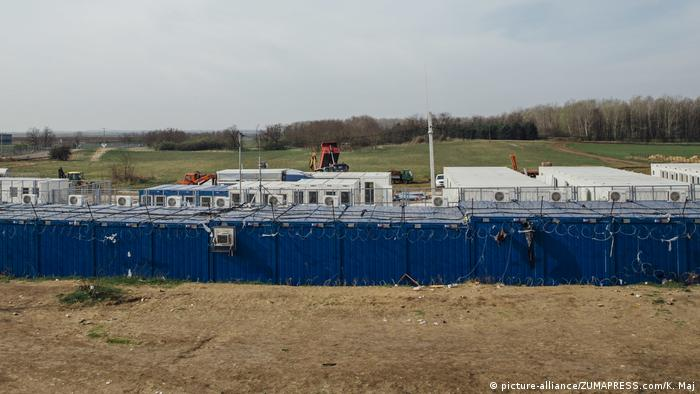 Serbien Container-Lager in Kelebija