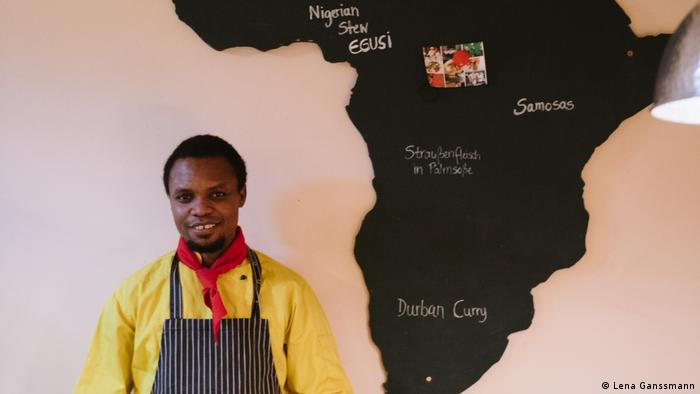 Frank Ayangbe, chef at Pan Africa in Berlin (Photo: Lena Ganssmann)