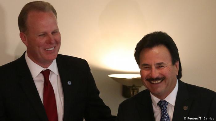 Mexiko Kevin Faulconer und Juan Manuel Gastelum in Mexiko-Stadt (Reuters/E. Garrido)