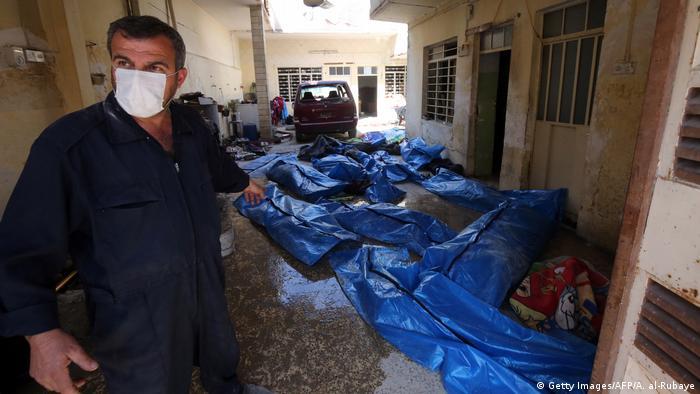 Irak Mossul Zivile Opfer Bodybags