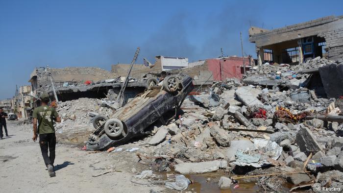 Irak Mossul Zerstörung nach Explosion Luftangriff