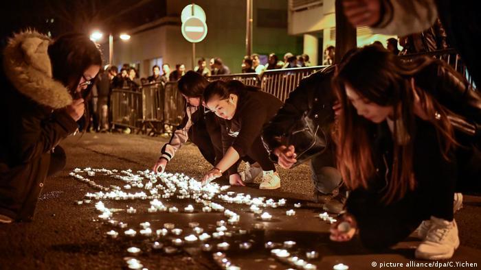 Paris Protest Chinesen