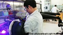 Mitarbeiter des Startups Qlight Nanotech an der Hebräischen Universität Jerusalem
