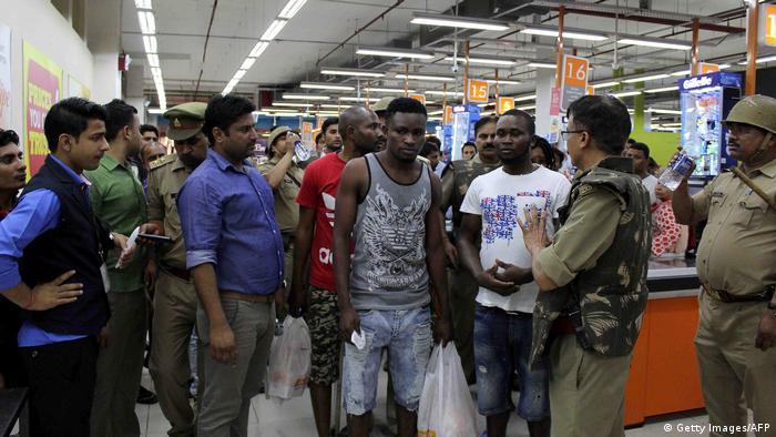 Indien Noida Angriff auf afrikanische Studenten