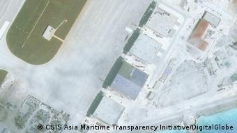 Satellitenfotos von AMTI/CSIS- Mischief Reef (CSIS Asia Maritime Transparency Initiative/DigitalGlobe)