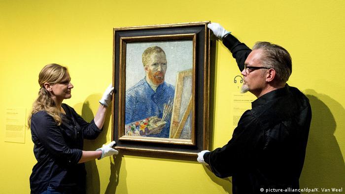 Autorretrato diante do cavalete, de Van Gogh