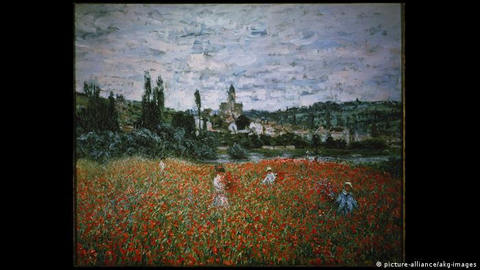 Campo de papoulas perto de Vétheuil, de Claude Monet