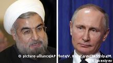 Kombobild Hassan Rouhani und Wladimir Putin