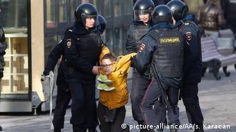 Задержания во время акций протеста в Москве