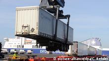 Deutschland Güterzug -Exporte