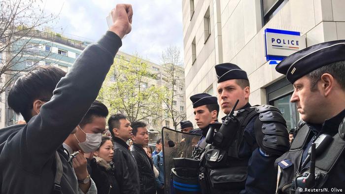 Frankreich Paris Proteste gegen tödliche Polizeischüsse