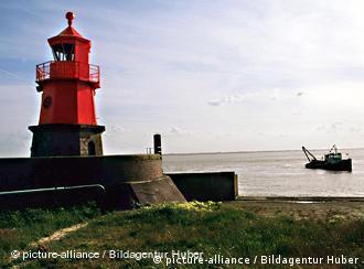 A lighthouse on Emden's harbor