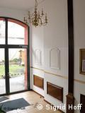 Hall de entrada: ambiente agradável para moradores e hóspedes esporádicos