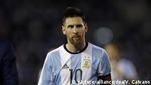 WM Qualifikation Argentinien - Chile Lionel Messi