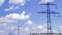 Symbolbild Strom Hochspannungsmasten