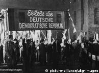 Di wilayah pendudukan Soviet, Dewan Rakyat diubah jadi Parlemen DDR. Konstitusi yang sebelumnya telah dirumuskan langsung disahkan. Isinya: pencabutan hak pribadi warga dan penerapan prinsip blok bagi semua partai yang berkuasa. 11 Oktober Wilhelm Pieck dipilih sebagai presiden pertama. Otto Grotewohl bertugas membentuk pemerintahan baru. Republik Demokrasi Jerman (DDR) lahir sebagai negara pecahan Jerman.