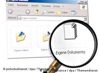 Screen capture that says documents highlighted with a magnifying glass