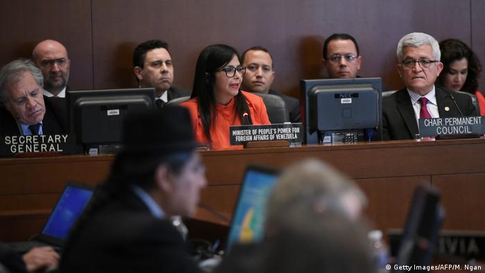 USA Venezuelas Außenministerin Delcy Rodriguez auf dem OAS-Treffen in Washington