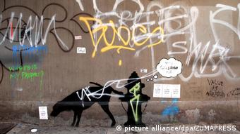 USA Banksy Peeing Dog- Better Out Than In