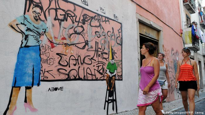 Portugal Street Art in Lissabon (Getty Images/AFP/F. Leong)