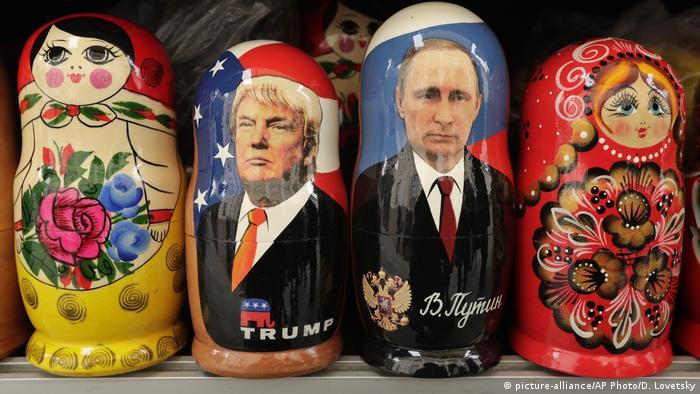 Матрешки Дональд Трамп и Владимир Путин