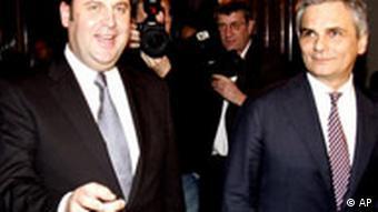 Große Koalition in Österreich: Werner Faymann, SPÖ, und Josef Pröll, ÖVP