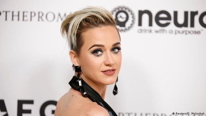 USA Katy Perry beim Elton Johns 70. Geburtstag (Reuters/D. Moloshok)
