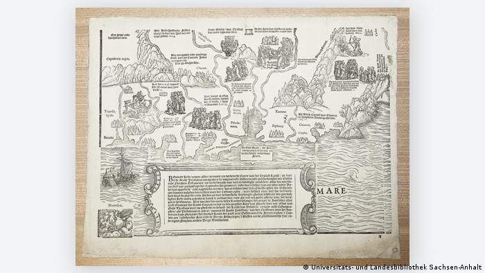 В Германии найдена уникальная карта Святой земли